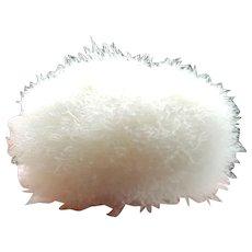"""VTG Real Swan's Down Feather Powder Puff 4"""" for Half Doll / Powder Jar"""