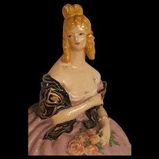 VintageArt Deco French Terre De Retz Powder Box Doll