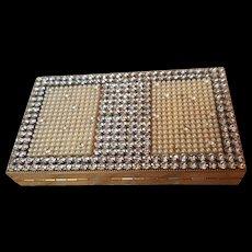 Swanky Original by Robert Rhinestone Compact Vanity Purse Minaudière Jeweled