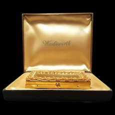 Rare Parker Pen Wadsworth Novelty Vanity Compact w/ Presentation Box