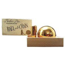 "Rare Collector's "" Ball and Chain "" Novelty Compact w/ ORG. BOX !! by Wadsworth Near Mint"