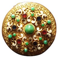 Impressive Antique Jeweled Austrian / French Compact