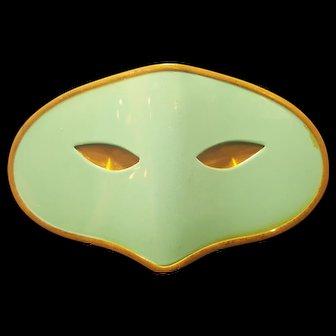 Rare Vintage ELIZABETH ARDEN masquerade BLUE MASK COMPACT Collector's Book Item