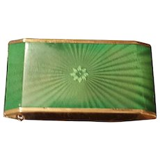 Vintage Zell Green Celluloid Compact