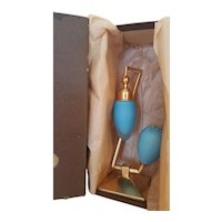 1920's Blue Devilbiss Debutante Perfume Bottle Atomizer w/ Box
