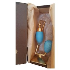 1920's Blue Devilbiss Debutante Perfume Bottle Atomizer w/ Box