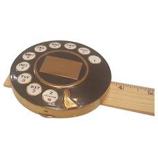 Vintage Rotary Telephone Dial Enamel Compact Salvador Dali 1954