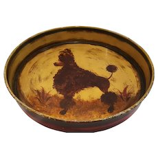 Vintage Toleware French Poodle Tray Peter Ompir