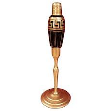 1920's Volupte Black Atomizer w/ Greek Key Design, No Top DeVilbiss Related
