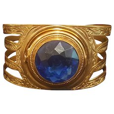 """Rare Collector's Combo Compact / Bracelet signed """"Vanitie"""""""