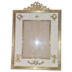 "Antique French 10.5"" Gilt Bronze Photograph / Picture Frame - Napoleonic"