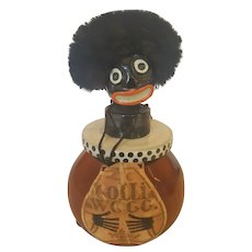 "RARE French 1920's Largest 5"" Full Bottle ""Golli-wogg"" Vingy Perfume"