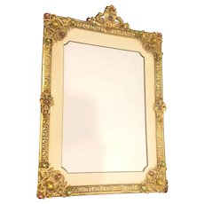 VTG 1920's Apollo Studios Jeweled Picture Frame