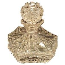 Fine, Unique Antique Highly Cut Squat Perfume Bottle