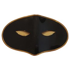 Rare Vintage Elizabeth Arden masquerade BLACK MASK COMPACT Collector's Book Item