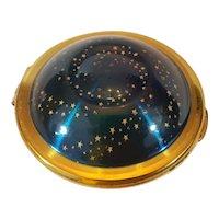 """Rare """"Flying Saucer"""" Kigu 1949 Figural Compact UFO"""