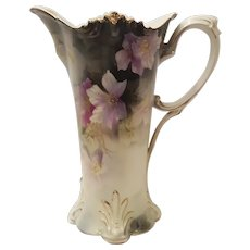 Antique RS (red mark)Prussia Chocolate Pot or Pitcher