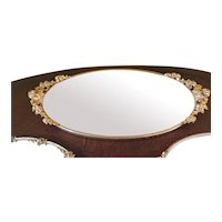 Vintage Large 20x10 Gold Vanity Tray w/ Mirror