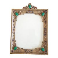 Antique Jeweled Apollo Studios Lrg. 14x10 Picture Frame