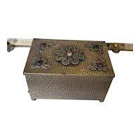 Antique Jeweled Casket Trinket Box
