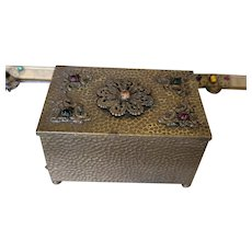 Antique Jeweled Casket Trinket Box