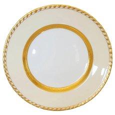 Antique Minton Dinner Plates Heavy 24kt gold on White ** Mint Set of 12