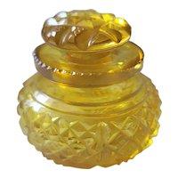 Antique 1840 Small Boston & Sandwich Amber Art Glass Perfume Bottle