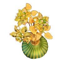Jeweled DeVilbiss Perfume Atomizer Bottle w/ Murano Glass