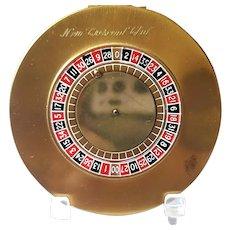 Vintage Majestic Roulette Wheel Compact w/original Box, Pouch & Game Board