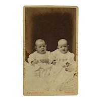 CDV- Victorian Twins, Nellie And Ella, With Helping Hands