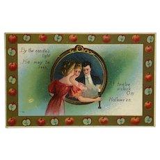 Halloween Romance Trick Mirror Postcard
