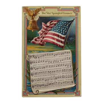 The Star Spangled Banner Music Postcard