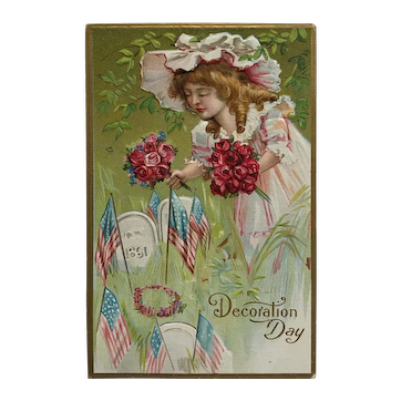 A Child On Decoration Day Postcard