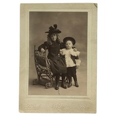Cabinet Photo- Helen And Harry In Early 1900's