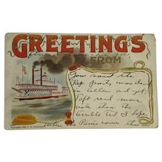 Bull Moose And 1912 Presidential Election Message Postcard