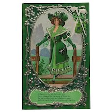 Lovely Irish Lass Dressed In St. Patrick's Day Green