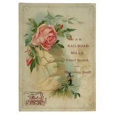 Railroad Mills Sweet Scotch And Maccoboy Snuff  Tradecard