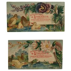 Dr. Grosvenor's Liveraid Tonic With Ducks And Frogs- 2 Tradecards