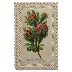 Red Buds For Beloved Papa Postcard
