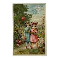Woolson Spice Summertime Girls Trade Card