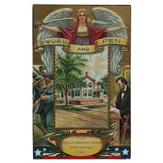 President Lincoln Remembered In Word And Deed Postcard