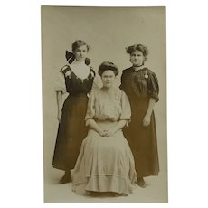 RPPC-Early 20th Century Young Ladies