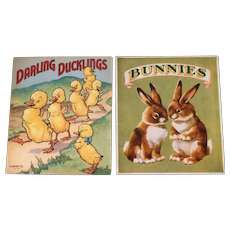 Lot of 2 - Linenette Duckies And Little Hands Bunnies
