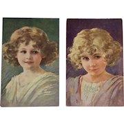 Pair Of Beautiful Little Girls- Muttich