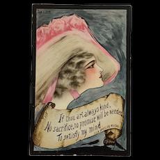 Nouveau Lady In Hat- Cobb Shinn