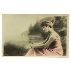 Dreamy Paris Beauty-Tinted Reutlinger Postcard