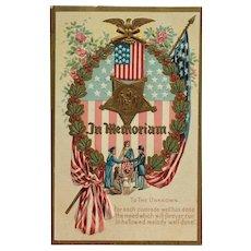 Memorial To The Unknown- Embossed Patriotic Postcard