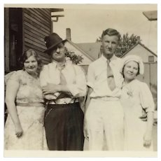 Black And White Photo- 2 1930's Couples With Attitude