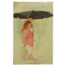A Walk In The Rain Postcard