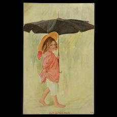 A Walk In The Rain Postcard